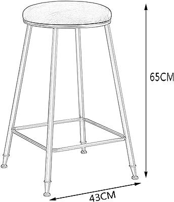 Amazon.com: PLOUT Bar Stool Metal Bracket Solid Wood Cushion ...