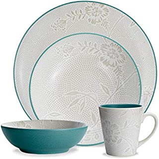 Noritake 4-Piece Bloom Coupe Place Dinnerware Setting in Blue/Green/Turquoise