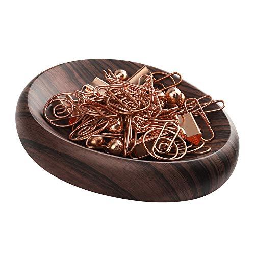 MoKo Magnetisch Klammernspender, Schreibtisch Organizer für Push Pin/Haarspangen und Andere Magnetisch Zubehör Aufbewahrung Büro Deko - Dunkelbraun