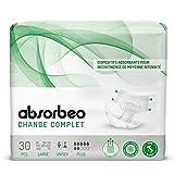 Absorbeo - Change Complet Plus - Dispositifs Absorbants pour Incontinence de Moyenne Intensité, Unisexe, Taille L (30 pièces par paquet)