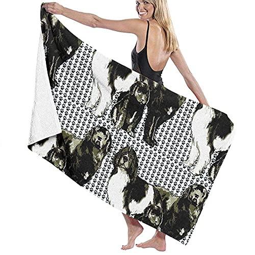 MENYUAN Newfoundland Dog Family - Toalla de baño absorbente ligera y grande para natación, piscina, viajes, deportes