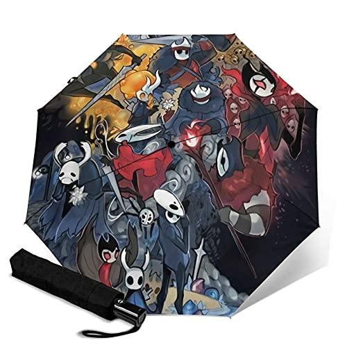 Hollow Knight Paraguas plegable, ligero, resistente al viento, impermeable, parasol automático