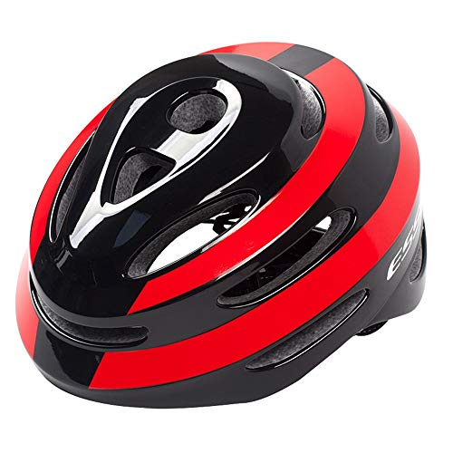 Casco de Ciclismo de 14 Agujeros Negro Brillante Rojo Competencia Profesional Cascos...