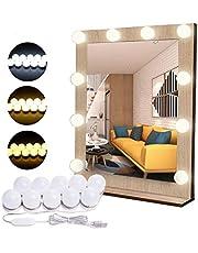 Flybiz DIY Vanity Lights Strip Kit, USB Kabel Hollywood Make-up Spiegellampen met 10 Dimbare Lampen, 3 Kleurmodi & 10 Helderheid voor Make-up en Dressing Spiegel (Mirror niet inbegrepen)