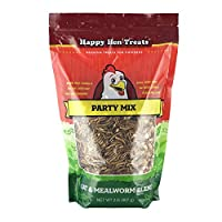 Happy Hen Treats Party Mix Mealworm and Oats, 2-Pound by Happy Hen Treats