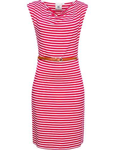 Peak Time Damen Kleid Dress Viskosekleid Sommerkleid Strandkleid Freizeitkleid L80028 Rasberry Gr. L