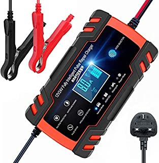 ANEAR Car Battery Charger, 12V 24V Battery Charger & Maintainer, 3-Stage Automatic Trickle Battery Charger Maintainer with...