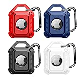 [4 Pack] Protective Case Compatible for Apple AirTag ,AirTags Case Cover with Keychain, Anti-Scratch for AirTag Holder Protective Cover for Apple AirTags Case Accessories [Military Grade]