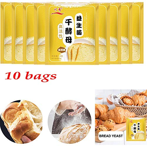 50g Broodgist Hoge activiteit Gezond Probiotisch Droog Gistpoeder Keukenbakbenodigdheden Brood bakken voor beginners, huishoudelijk gebruik