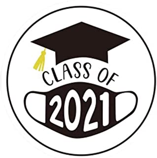 "Class of 2021 MASK Graduation Envelope Seals Labels Stickers 500Pcs 1.5"" in Diameter(3.8cm) 1 Roll Gift Seals Lable"