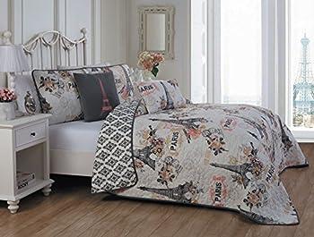 Avondale Manor Cherie 5-piece Quilt Set Queen Coral