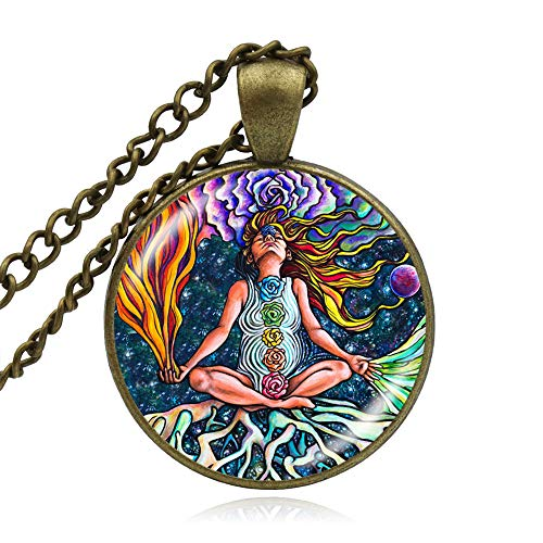 7 Chakra-Halsketten und Anhänger für Damen und Herren, Yoga-Heilung, Schmuck, Buddhismus, Zen-Meditation, Halskette