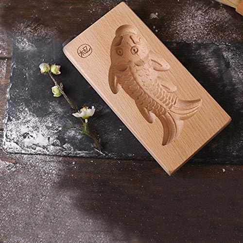 Driedimensionaal Patroon Voor Kinderen, Broodje, Pompoen, Pastei, Pasta, Houten Mal, Karper, Grootte, Bakvorm-Een Paar Extra Grote Driedimensionale Vissen