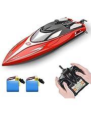 DEERC ラジコン 船 ボート 高速 ラジコンボート こども向け リモコン 28km/h 防水性 RCスピードボート おもちゃ 2.4Ghz無線操作 贈り物 日本国内認証済み H120