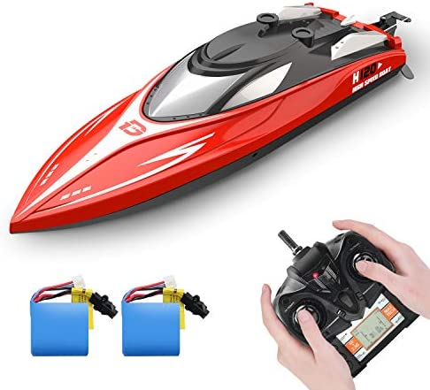 DEERC H120 RC Boat Remote Control Boats for Pools and Lakes 20 mph 2 4 GHz Racing Boats for product image