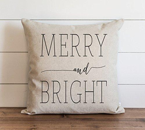 Feliz y brillante funda de almohada // Navidad // vacaciones // invierno // almohada de tiro // regalo para ella // almohada acento / almohada de vacaciones, decoración del hogar