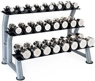 Hampton Fitness 3-Tier Chrome Dumbbell Saddle Rack