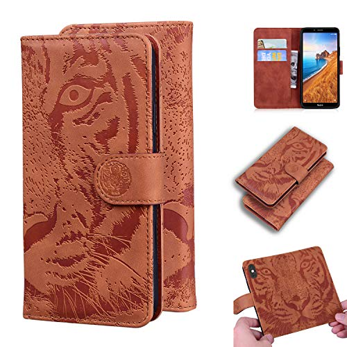 Snow Color Xiaomi Redmi 7A Hülle, Premium Leder Tasche Flip Wallet Case [Standfunktion] [Kartenfächern] PU-Leder Schutzhülle Brieftasche Handyhülle für Xiaomi Redmi 7A - COTX020703 Braun