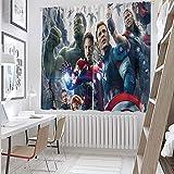 Sdustin The Avengers, Iron Man Hulk (10) cortinas opacas para ventana de dormitorio (tela de poliéster)