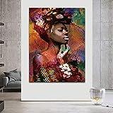 ganlanshu Cartel de la Sala de Arte de la Pared Pintura al óleo Abstracta Figura de Mujer decoración del hogar Pintura,Pintura sin Marco,40X60cm