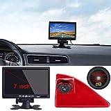 Dynavsal 7 Zoll TFT LCD Farbdisplay Auto Monitor + 1280 * 720 Pixel 1000TV Linien HD Nachtsicht Rückfahrkamera für Opel Vauxhall Movano ab 2010/Renault Master ab 2010/Nissan NV400 ab 2010
