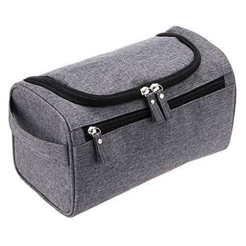 IGNPION Men's Hanging Travel Toiletry Wash Bag (Grey)