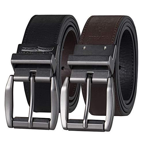 Levi's Men's Reversible Casual Jeans Belt, Black/Brown Laminate, 36 (Waist 34)
