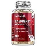 Raspberry Ketone Advanced - Himbeer Ketone mit Superfoods - Mit Apfelessig, Grüntee & Acai Beere - Vegan & Geprüfte Inhaltsstoffe - Für eine Ketogene Ernährung - 180 Kapseln - Von WeightWorld