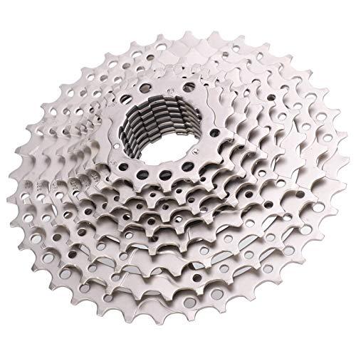 VGEBY Cassette Flywheel, 1 Pieza Antióxido, 10 velocidades, 11-36T, Rueda Libre Ligera, Rueda Libre de Repuesto para Bicicletas de montaña, Color Plateado