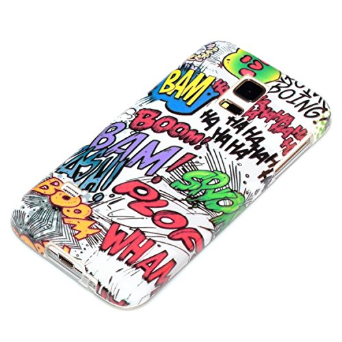 deinPhone Comic Boom - Funda para móvil Samsung Galaxy S5 Mini, multicolor