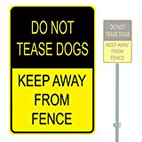 The454esa Do Not Tease Dogs Keep Away from Fence Heavy Duty Aluminium Warnschild Parkplatzschild 30,5 x 45,7 cm