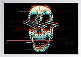 Pop Art Digital Totenkopf Kunstdruck Poster -ungerahmt-