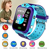 KToyoung Kids Smart Watch,Childrens Smartwatch for Kids Girls,Waterproof LBS Tracker Watch HD Touch Screen Sport Smartwatch Phone Watch with SOS Call Camera Game Alarm for Children Teen Students,Blue