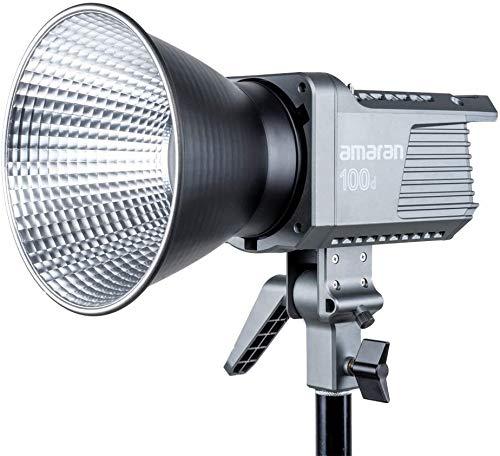 Aputure Amaran 100d Daylight Ligero, Compacto, 100W, 5600K, Luz de Video LED Regulable, CRI95 + TLCI96 + 39500lux @ 1m, Soporte Estándar de graves Controlados por Aplicación