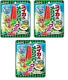 コンビニー限定 2020年6月新発売 LOTTE ロッテ スイカ&メロンバーグミ 凍らせてもおいしい! キャンディ 73gx3個 食べ試しセット スイカ メロンバー グミ Watermelon Melon Soft Gummy Candy