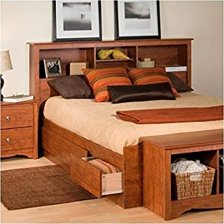 BOWERY HILL Full Queen Bookcase Headboard in Cherry