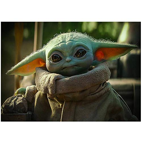 HYLLVC Puzzle für Erwachsene 1000 Teile Baby Yoda: Star Wars 1000-teiliges Puzzle für Erwachsene und Kinder Movie Characters Herausforderndes und lustiges Familienkooperationsspiel (38x26cm)