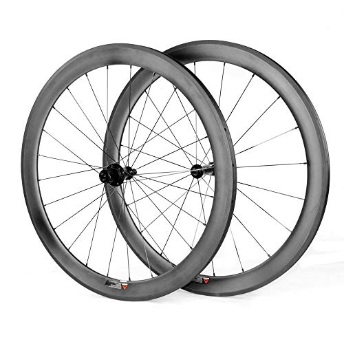 LANDMYTH - Set di Ruote per Bici, in Fibra di Carbonio Opaca, 700 C, 50 mm