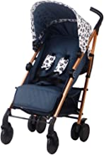Portable /& Ultra Compact Stroller Suitable from Newborn-Toddler 33lbs Baby Travel Stroller One-Hand fold Weighs just 13.5lbs Your Babiie MAWMA by Snooki Navy Soho Infant Stroller