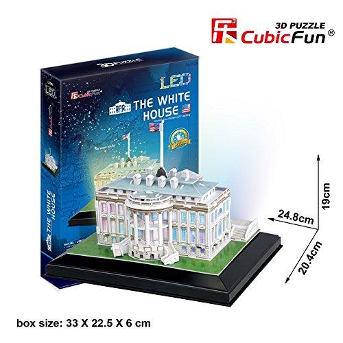 3D Puzzle Led Casa Blanca Estados Unidos 56 Piezas