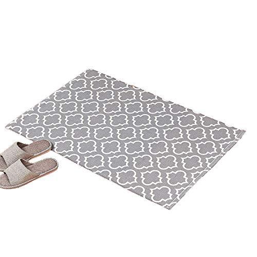 Sherwy Baumwolle Gewebten Teppich-2'x 3 'Tufting-Teppichboden-Matten Kleine Fußmatte Einfache Und Moderne Teppichboden-Matten Nacht Mat-Fuss-Auflage For Hauptdekoration, Schlafzimmer, Eingangsmatte, B