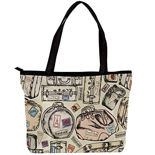 LORVIES Bolso bandolera para mujer modelo de maleta vintage bolso de mano para niñas