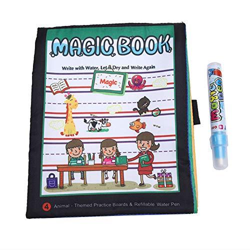 Yinuoday Eau Dessin Livre Portable Peinture Tissu Livre Enfants Magie Coloration Peinture Tissu Livre pour Enfant Enfant Apprentissage Intelligent Jouet