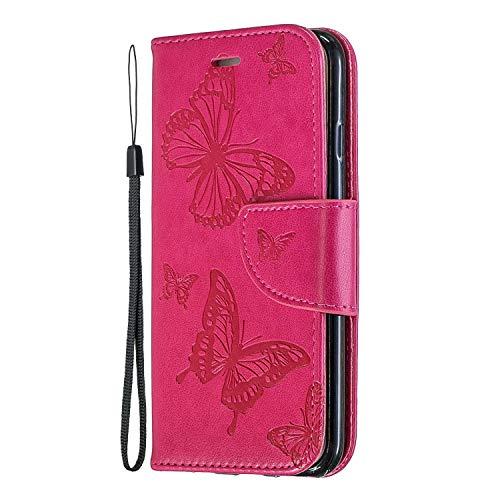 Miagon per Xiaomi Mi 10T PRO Flip Cover,retrò Farfalla Disegno Pu Pelle Libro Chiusura Magnetica Funzione Stand Portafoglio Custodia con Slot per Schede