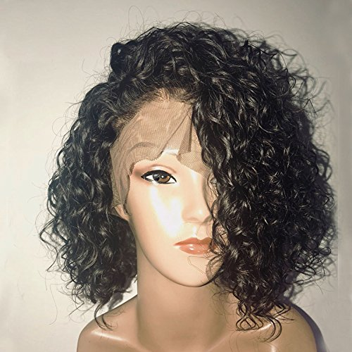Dorosy Hair 13x6 Lace Front Wigs Human Hair Wigs for Black Women 150% Density Remy Hair with Natural Hairline Curly Hair with Baby Hair(8 inch with 150% density)
