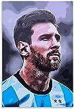 PóSter Y Estampados Lionel Messi y el Cuadro para la decoración de la Sala de Estar Lienzo Pintura Pared Arte Cuadros 11.8'x19.7'(30x50cm) Sin Marco