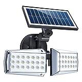 Solarlampen für Außen mit Bewegungsmelder, 42 LEDs Solarleuchte Aussen mit 3 Modi, 360° Frei Einstellbar, IP65 Wasserdichte Garten Sicherheitswandleuchte