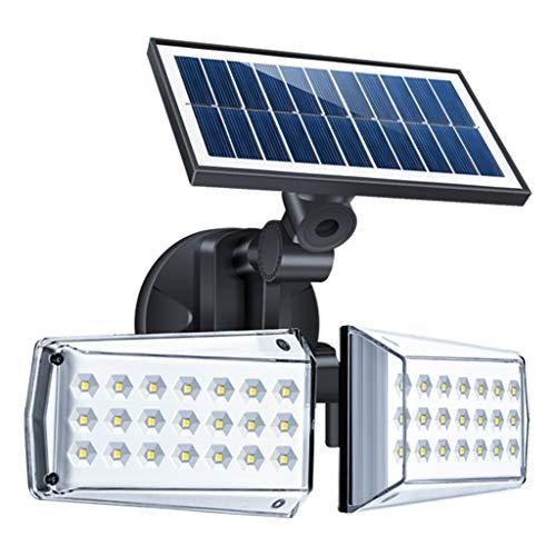 Solarlampen für Außen mit Bewegungsmelder, 42 LEDs Solarleuchte Aussen mit 3 Modi, 360° Frei Einstellbar, IP65 Wasserdichte, Solar Wandleuchte für Garten