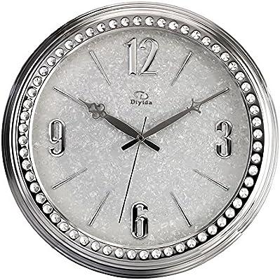 JCRNJSB® ウォールクロックリビングルームパーソナリティミュート時計クリエイティブダイヤモンドハンギングテーブルファッションクォーツ時計 壁掛けサスペンション クロックウォールクロック クォーツ時計 (色 : #3)