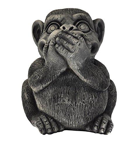 Wilai 3 große Affen- einzeln & im Set - Nichts sehen hören Sagen - Glücksbringer -Skulptur (AFFE Nichts Sagen - Art.Nr 10274)